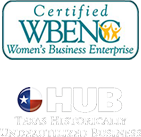 Certified Women Business Enterpise and Texas Historically Underutilized Business Certification